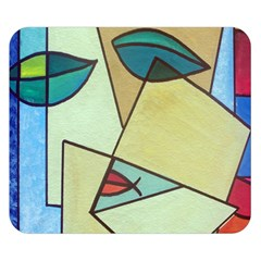 Abstract Art Face Double Sided Flano Blanket (small)