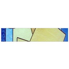 Abstract Art Face Flano Scarf (small)