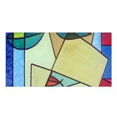 Abstract Art Face Satin Shawl