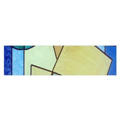 Abstract Art Face Satin Scarf (Oblong)