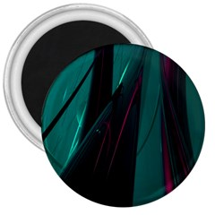 Abstract Green Purple 3  Magnets