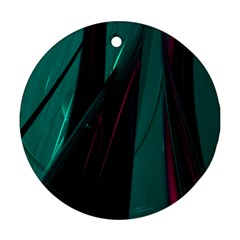 Abstract Green Purple Ornament (Round)