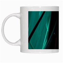 Abstract Green Purple White Mugs