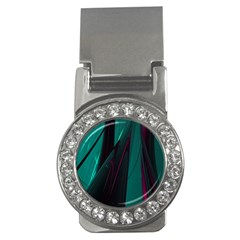 Abstract Green Purple Money Clips (cz)