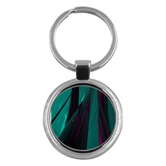 Abstract Green Purple Key Chains (Round)