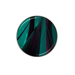 Abstract Green Purple Hat Clip Ball Marker
