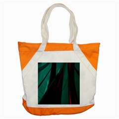 Abstract Green Purple Accent Tote Bag