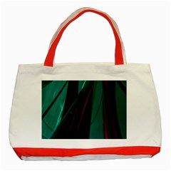 Abstract Green Purple Classic Tote Bag (Red)