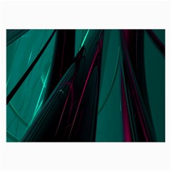Abstract Green Purple Large Glasses Cloth