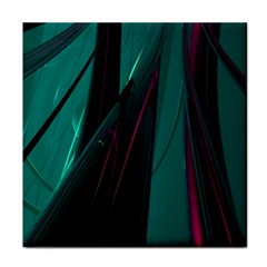 Abstract Green Purple Face Towel