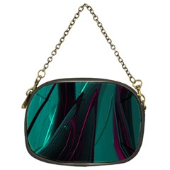 Abstract Green Purple Chain Purses (Two Sides)