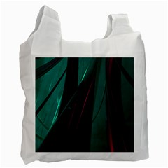 Abstract Green Purple Recycle Bag (Two Side)