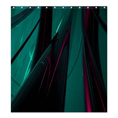 Abstract Green Purple Shower Curtain 66  X 72  (large)