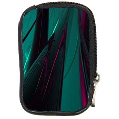 Abstract Green Purple Compact Camera Cases