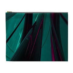 Abstract Green Purple Cosmetic Bag (XL)