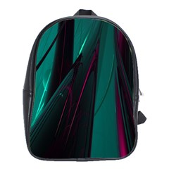 Abstract Green Purple School Bags(Large)