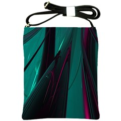 Abstract Green Purple Shoulder Sling Bags