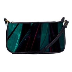 Abstract Green Purple Shoulder Clutch Bags