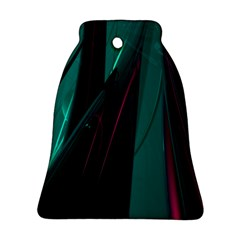 Abstract Green Purple Ornament (Bell)