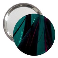 Abstract Green Purple 3  Handbag Mirrors