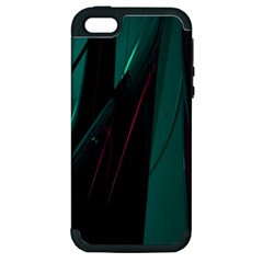 Abstract Green Purple Apple iPhone 5 Hardshell Case (PC+Silicone)