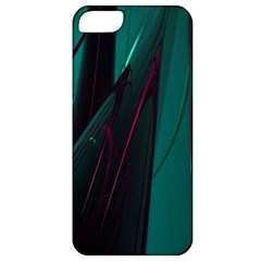 Abstract Green Purple Apple Iphone 5 Classic Hardshell Case