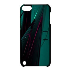 Abstract Green Purple Apple Ipod Touch 5 Hardshell Case With Stand