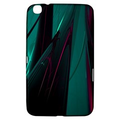 Abstract Green Purple Samsung Galaxy Tab 3 (8 ) T3100 Hardshell Case