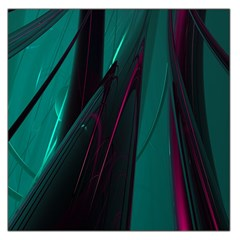 Abstract Green Purple Large Satin Scarf (Square)