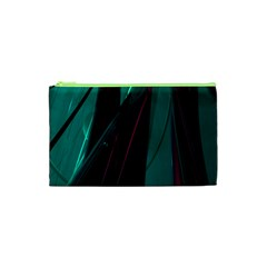 Abstract Green Purple Cosmetic Bag (XS)