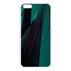 Abstract Green Purple Apple Seamless iPhone 6 Plus/6S Plus Case (Transparent)