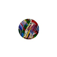 Abstract Art Art Artwork Colorful 1  Mini Buttons