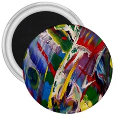 Abstract Art Art Artwork Colorful 3  Magnets