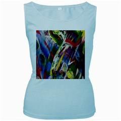 Abstract Art Art Artwork Colorful Women s Baby Blue Tank Top