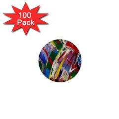 Abstract Art Art Artwork Colorful 1  Mini Buttons (100 pack)