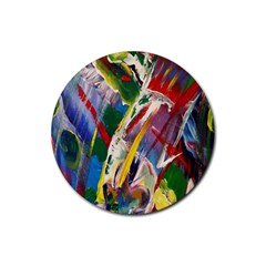 Abstract Art Art Artwork Colorful Rubber Round Coaster (4 pack)