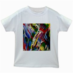 Abstract Art Art Artwork Colorful Kids White T-Shirts