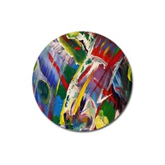 Abstract Art Art Artwork Colorful Magnet 3  (Round)