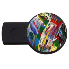 Abstract Art Art Artwork Colorful USB Flash Drive Round (1 GB)