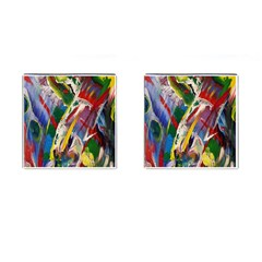 Abstract Art Art Artwork Colorful Cufflinks (Square)