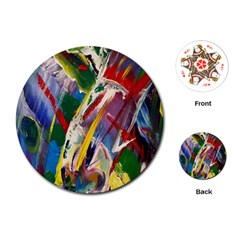 Abstract Art Art Artwork Colorful Playing Cards (Round)