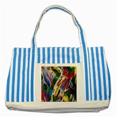 Abstract Art Art Artwork Colorful Striped Blue Tote Bag