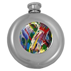 Abstract Art Art Artwork Colorful Round Hip Flask (5 oz)