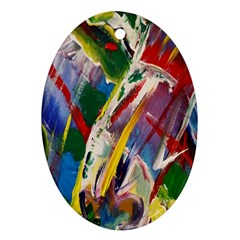 Abstract Art Art Artwork Colorful Oval Ornament (Two Sides)