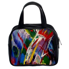 Abstract Art Art Artwork Colorful Classic Handbags (2 Sides)
