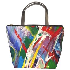 Abstract Art Art Artwork Colorful Bucket Bags