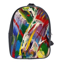 Abstract Art Art Artwork Colorful School Bags(Large)