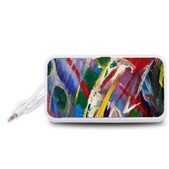 Abstract Art Art Artwork Colorful Portable Speaker (White)