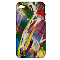 Abstract Art Art Artwork Colorful Apple iPhone 4/4S Hardshell Case (PC+Silicone)