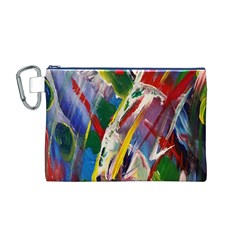 Abstract Art Art Artwork Colorful Canvas Cosmetic Bag (m)